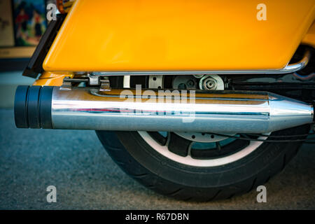 Detail view of motorcycle wheel - Stock Photo