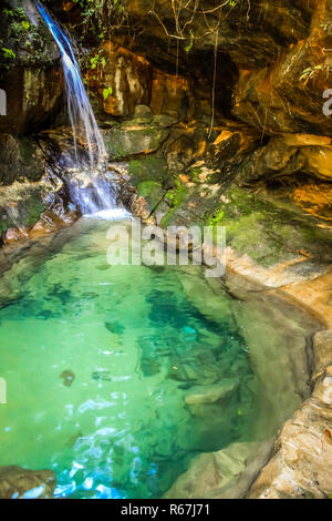 Natural pool in Park Isalo - Stock Photo