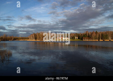 a lake in winter - Stock Photo