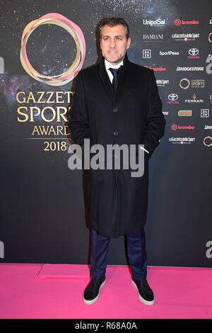 Gian Mattia D'Alberto / lapresse 04-12-2018 Milano sport Gazzetta Sports Awards 2018 nella foto: Christian Vieri  Gian Mattia D'Alberto  / lapresse 2018-12-04 Milan Gazzetta Sports Awards 2018 in the photo: Christian Vieri