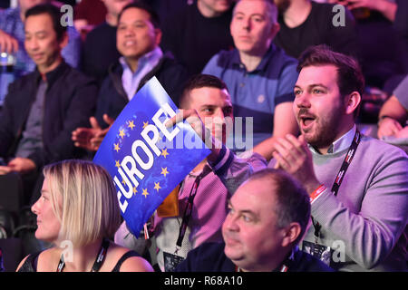 London, UK. 4th Dec, 2018. The spectators during The Partypoker Mosconi Cup 2018: on Day 1 event at Alexandra Palace on Tuesday, 04 December 2018. LONDON, ENGLAND. (Editorial use only, license required for commercial use. No use in betting, games or a single club/league/player publications.) Credit: Taka Wu/Alamy Live News - Stock Photo