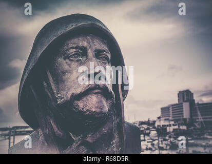 Soldier face sculpture - Stock Photo