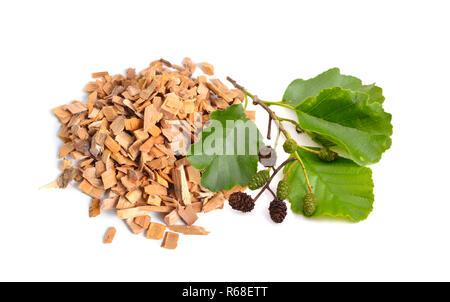 Alder Wood Chips Isolated On White Background Stock Photo 227609990