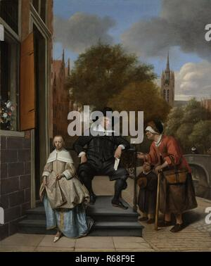 Adolf and Catharina Croeser, Known as The Burgomaster of Delft and his Daughter, Jan Havicksz. Steen, 16553.jpg - R68F9E - Stock Photo