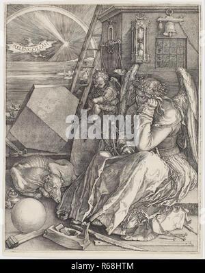 Albrecht Drer, Melencolia I.jpg - R68HTM 1R68HTM - Stock Photo