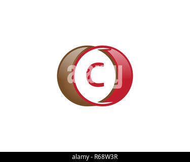 c letter circle logo - Stock Photo