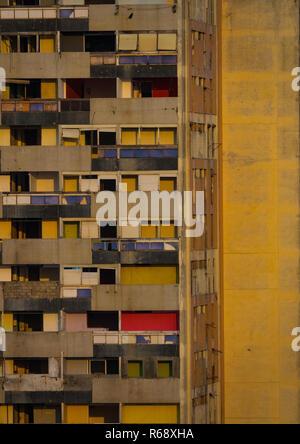Buildings along the Marginal promenade in Luanda city center at sunset, Luanda Province, Luanda, Angola - Stock Photo