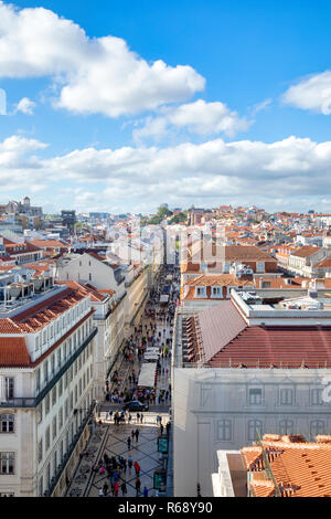 View of the old centre of Lisbon in Portugal - Stock Photo