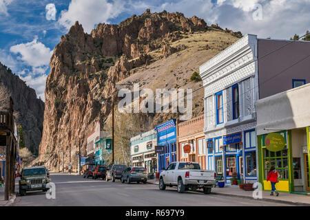 Main Street in Creede, Colorado, USA