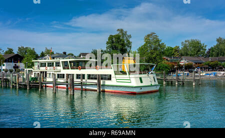 Boat Feeder For The Excursion Boats In Prien Am Chiemsee - Stock Photo