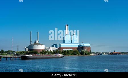 Kraftwerk Tiefstack In Hamburg - Stock Photo