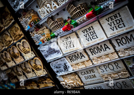Souvenirs in Rome, Italy - Stock Photo