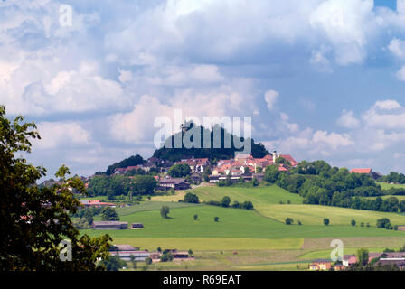 Volcano Parkstein In Upper Palatinate In Germany - Stock Photo