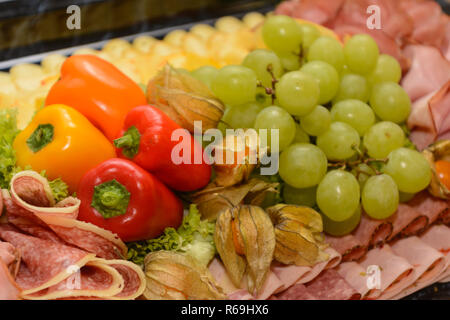 Decorative And Varied Designed Cold Buffet - Stock Photo