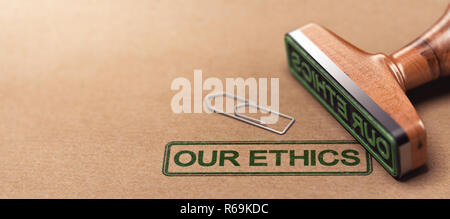 Our Ethics, Business Moral Principles - Stock Photo