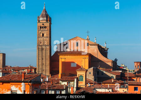 Aerial view of Bologna Cathedral in Bologna, Italy - Stock Photo