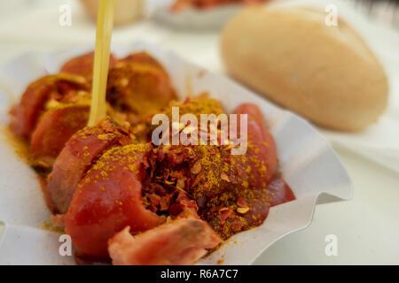 Curry Sausage - Stock Photo