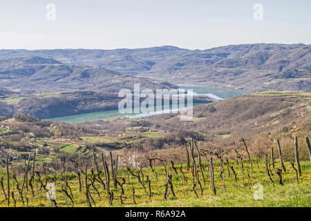 The Jez Butonica Is An Idyllic Reservoir In Central Istria - Stock Photo