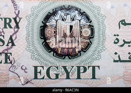 Egypt Entry Visa Fee - Stock Photo