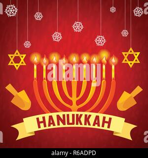 Hanukkah concept background. Cartoon illustration of hanukkah vector concept background for web design - Stock Photo
