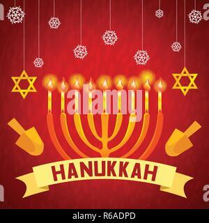 Hanukkah concept background. Cartoon illustration of hanukkah vector concept background for web design - Stock Photo