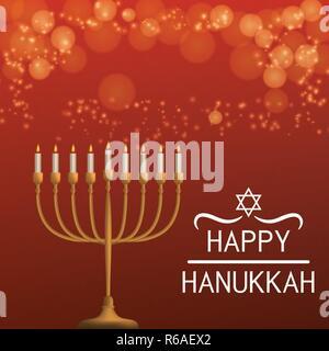 Happy hanukkah concept background, realistic style - Stock Photo