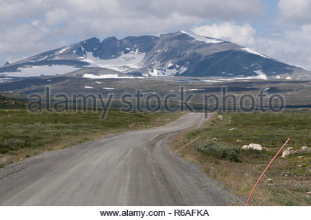 Snohetta In Dovrefjell, Norway - Stock Photo