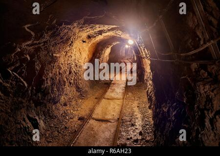 Old Mine Tunnel - Stock Photo