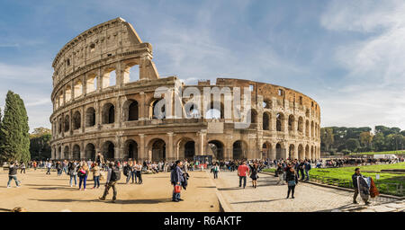 The Colosseum is an amphitheatre in Rome, Italy - Stock Photo