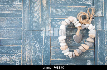 Heart Made From Pebbles - Stock Photo