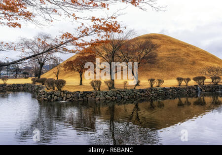 royal mounds reflection - Stock Photo