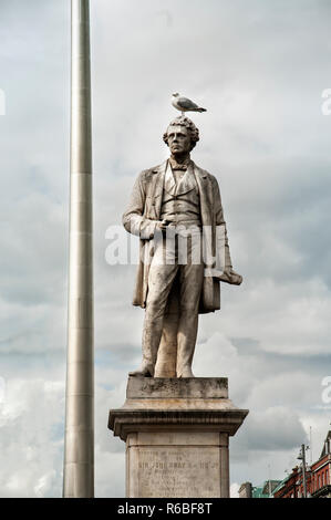 DUBLIN.IRELAND-August 07, 2017 : monument to Sir John Gray on O'Connell street - Stock Photo