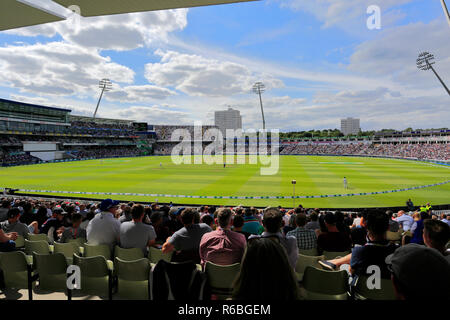 Test match, India verses England cricket teams at Edgbaston, Birmingham, West Midlands, England, UK - Stock Photo