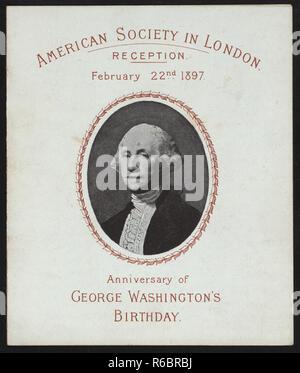 vintage portrait of George Washington (rare image) - Stock Photo