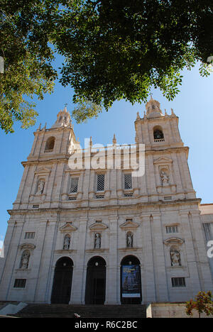 The Church or Monastery of São Vicente de Fora; meaning 'Monastery of St. Vincent Outside the Walls' is a 17th-century church - Stock Photo