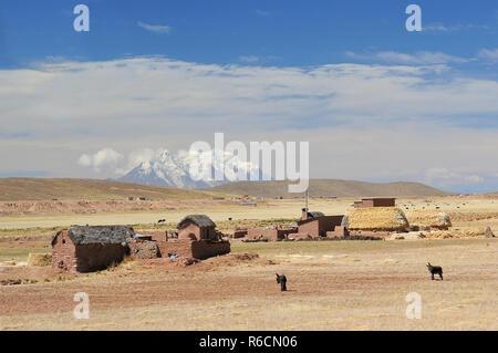 Bolivia, Cordillera Real From The Road To La Paz - Stock Photo
