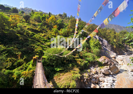 Nepal, Annapurna Conservation Area, Trek To Annapurna Base Camp In Nepal Himalaya - Stock Photo