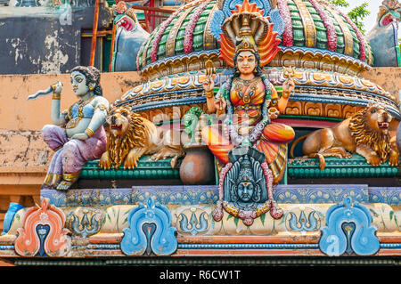 Sri Kailasanathar Swami Devasthanam Or Captains Garden Temple Is The Oldest Hindu Temple Of Colombo The Capital Of Sri Lanka - Stock Photo