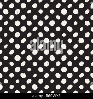 Hand drawn style ethnic seamless pattern. Abstract geometric shapes in black and white. - Stock Photo