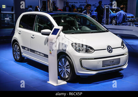 FRANKFURT - SEPT 2015: Volkswagen VW E-Up! presented at IAA International Motor Show on September 20, 2015 in Frankfurt, Germany - Stock Photo
