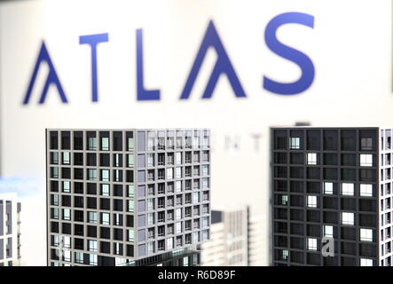 Yekaterinburg, Russia. 05th Dec, 2018. YEKATERINBURG, RUSSIA - DECEMBER 5, 2018: The Atlas Development stand at the 100  Technologies International Forum for High-rise and Special Construction at the Yekaterinburg-Expo Exhibition Center. Donat Sorokin/TASS Credit: ITAR-TASS News Agency/Alamy Live News - Stock Photo