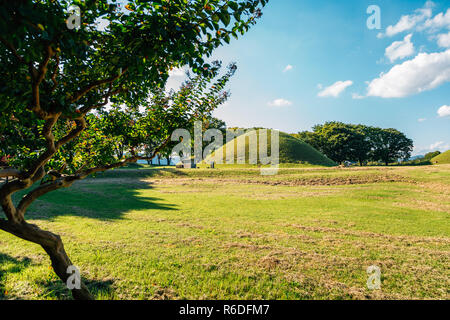 Gyeongju Gyerim and royal tomb, ancient ruins in Gyeongju, Korea - Stock Photo