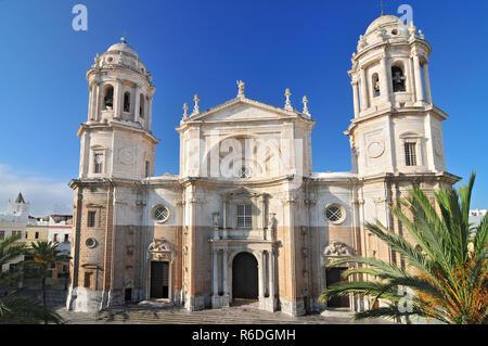 Cadiz Cathedral Called La Catedral Vieja De Cadiz Or Iglesia De Santa Cruz Cadiz Andalusia, Spain - Stock Photo