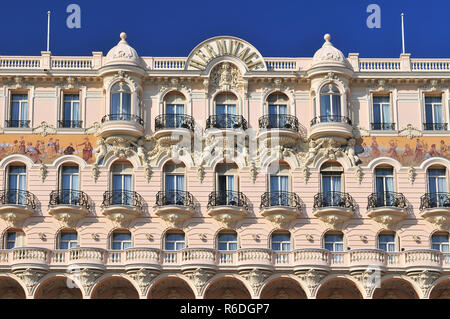 Facade Of Hermitage Hotel Principality Of Monaco Provence Alpes Côte D Azur France - Stock Photo