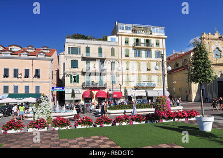 San Remo, Historic District Of Harbour Town On The Ligurian Coast Riviera Di Ponente, Liguria - Stock Photo