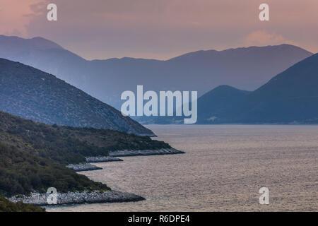 sunrise in Ionian Islands - Stock Photo