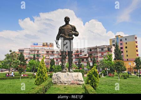 Monunent Of Isa Boletini Shkoder Albania - Stock Photo
