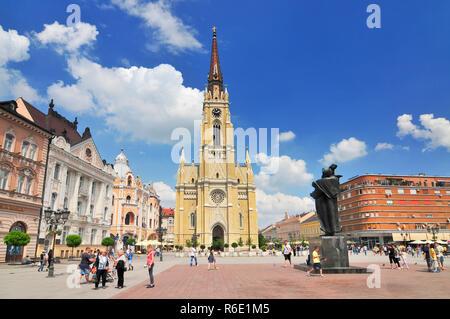 The Name Of Mary Church A Roman Catholic Church Dedicated To The Feast Of Holy Name Of Mary Novi Sad Serbia - Stock Photo