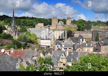 Castle Of Fougeres In Brittany North Of France - Stock Photo