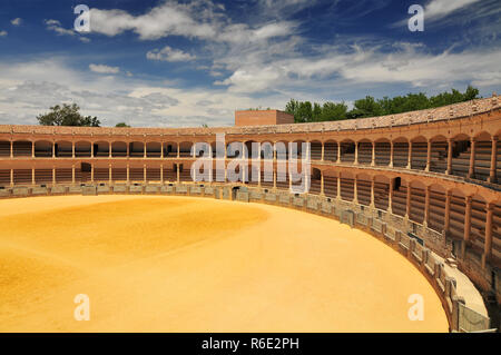Plaza De Toros (Bullring) In Ronda, Opened In 1785, One Of The Oldest And Most Famous Bullfighting Arena In Spain Andalucia - Stock Photo